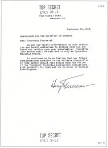 Truman Majestic 12 memo